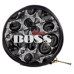 Like A Boss Blk&wht Mini Makeup Case