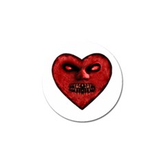 Evil Heart Shaped Dark Monster  Golf Ball Marker