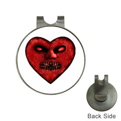 Evil Heart Shaped Dark Monster  Hat Clip With Golf Ball Marker by dflcprints