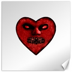 Evil Heart Shaped Dark Monster  Canvas 20  X 20  (unframed) by dflcprints