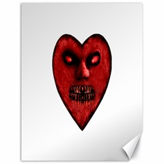 Evil Heart Shaped Dark Monster  Canvas 18  X 24  (unframed) by dflcprints