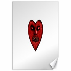 Evil Heart Shaped Dark Monster  Canvas 24  X 36  (unframed) by dflcprints