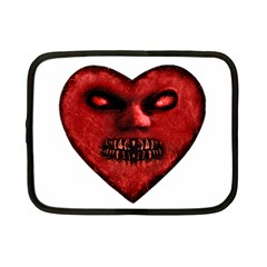 Evil Heart Shaped Dark Monster  Netbook Sleeve (small) by dflcprints