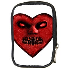 Evil Heart Shaped Dark Monster  Compact Camera Leather Case by dflcprints