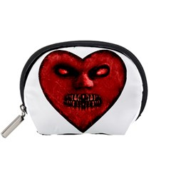Evil Heart Shaped Dark Monster  Accessory Pouch (small) by dflcprints