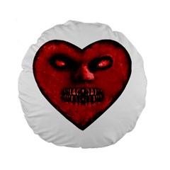 Evil Heart Shaped Dark Monster  Standard Flano Round Cushion  by dflcprints