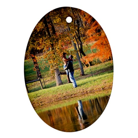 Oval Pond By Jessica   Ornament (oval)   2wqq1ymxqdlb   Www Artscow Com Front
