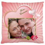 Pink Heart Standard Flano Case (2 sided) - Standard Flano Cushion Case (Two Sides)