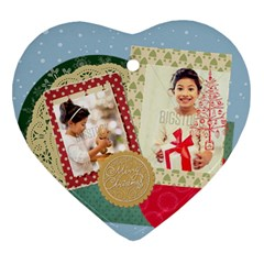 Xmas By Xmas4   Heart Ornament (two Sides)   Ai4qhb1v3kth   Www Artscow Com Back