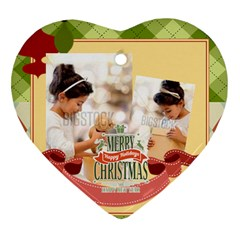 Xmas By Xmas4   Heart Ornament (two Sides)   H2ephbn2t1st   Www Artscow Com Back