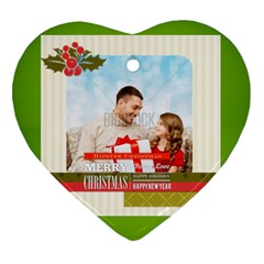 Xmas By Xmas4   Heart Ornament (two Sides)   U17313dzca2y   Www Artscow Com Back