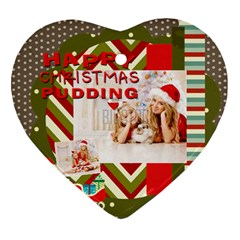 Xmas By Xmas4   Heart Ornament (two Sides)   Dslc8gpodk68   Www Artscow Com Back