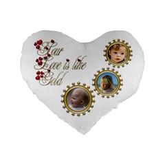 Love Standard Heart Cushion By Deborah   Standard 16  Premium Flano Heart Shape Cushion    Hjyilhgi7u6s   Www Artscow Com Front