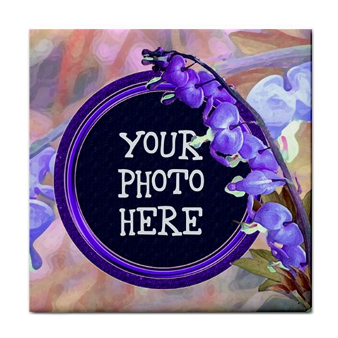 Purple Bleeding Heart Tile Coaster By Chere s Creations   Tile Coaster   0tvu53zktxj5   Www Artscow Com Front