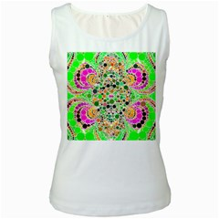 Florescent Abstract  Women s Tank Top (white) by OCDesignss