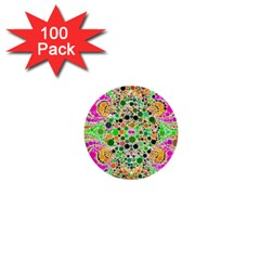 Florescent Abstract  1  Mini Button (100 Pack) by OCDesignss