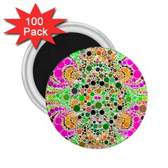 Florescent Abstract  2.25  Button Magnet (100 pack) by OCDesignss