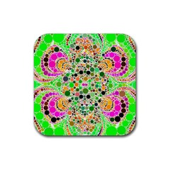 Florescent Abstract  Drink Coaster (square) by OCDesignss
