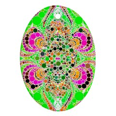 Florescent Abstract  Oval Ornament (two Sides) by OCDesignss