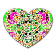 Florescent Abstract  Mouse Pad (heart) by OCDesignss