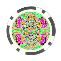 Florescent Abstract  Poker Chip by OCDesignss