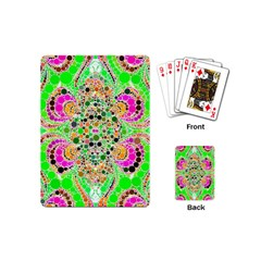 Florescent Abstract  Playing Cards (mini) by OCDesignss