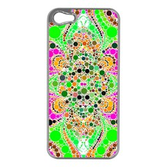 Florescent Abstract  Apple Iphone 5 Case (silver) by OCDesignss