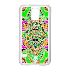 Florescent Abstract  Samsung Galaxy S5 Case (white) by OCDesignss