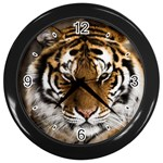 Tiger Wall Clock (Black)