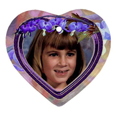 Purple Bleedingheart Ornament Heart By Chere s Creations   Ornament (heart)   0f6rw98j9mgj   Www Artscow Com Front