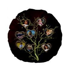 Family Tree Standard Flano Round Cushion By Deborah   Standard 15  Premium Flano Round Cushion    Fkbp9l8csynb   Www Artscow Com Back