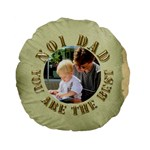 No 1 Dad Standard Flano Round Cushion - Standard 15  Premium Flano Round Cushion