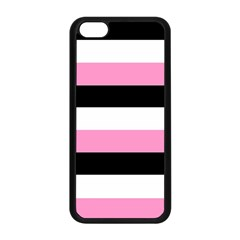 Black, Pink And White Stripes  By Celeste Khoncepts Com 20x28 Apple Iphone 5c Seamless Case (black)