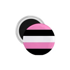 Black, Pink And White Stripes By Celeste Khoncepts Com 1 75  Magnet by Khoncepts