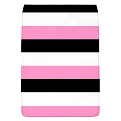 Black, Pink And White Stripes  By Celeste Khoncepts Com 20x28 Removable Flap Cover (small) by Khoncepts