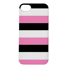 Black, Pink And White Stripes  By Celeste Khoncepts Com 20x28 Apple Iphone 5s Hardshell Case by Khoncepts