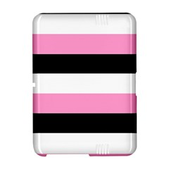 Black, Pink And White Stripes  By Celeste Khoncepts Com 20x28 Kindle Fire HD Hardshell Case by Khoncepts