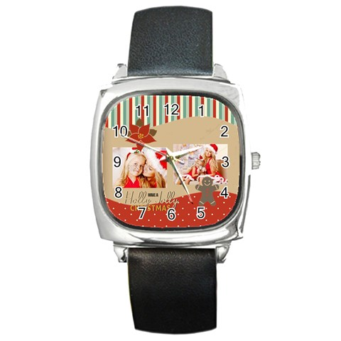 Xmas By Xmas4   Square Metal Watch   E7vsotu9g72l   Www Artscow Com Front