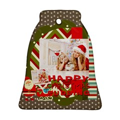 Xmas By Xmas4   Bell Ornament (two Sides)   2z74vx8vp4jo   Www Artscow Com Front
