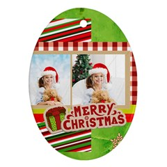 Xmas By Xmas4   Oval Ornament (two Sides)   Cp2s1ypvrt6y   Www Artscow Com Front