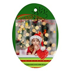 Xmas By Xmas4   Oval Ornament (two Sides)   D6vr0zj59n0y   Www Artscow Com Front