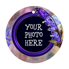 Purple Bleedingheart Round Ornament Two Sides By Chere s Creations   Round Ornament (two Sides)   Jdi2gutiytiv   Www Artscow Com Front