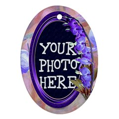 Purple Bleedingheart Oval Ornament Two Sides By Chere s Creations   Oval Ornament (two Sides)   9v606kkwz6sm   Www Artscow Com Front