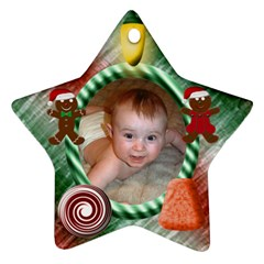 Candy Christmas Star Ornament Two Sides By Chere s Creations   Star Ornament (two Sides)   40ja372xtift   Www Artscow Com Back
