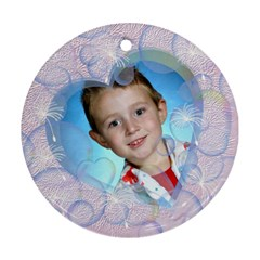 Bubble Ornament Round Two Sides By Chere s Creations   Round Ornament (two Sides)   Tsru8enmfijj   Www Artscow Com Back