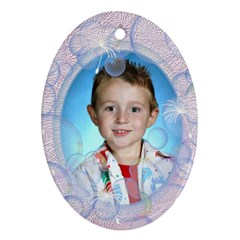 Bubble Ornament Oval Two Sides By Chere s Creations   Oval Ornament (two Sides)   Jsj9j9y5t4ge   Www Artscow Com Front