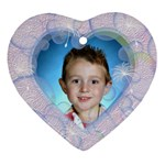 Bubble Heart Ornament Two Sides - Heart Ornament (Two Sides)