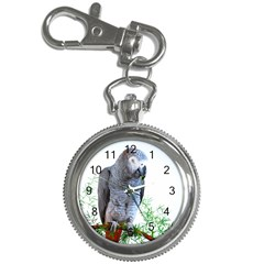 African Grey Watch Key Chain Watch by sophspics