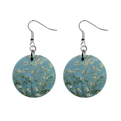 Vincent Van Gogh, Almond Blossom Mini Button Earrings by Oldmasters