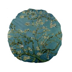 Vincent Van Gogh, Almond Blossom Standard Flano Round Cushion  by Oldmasters